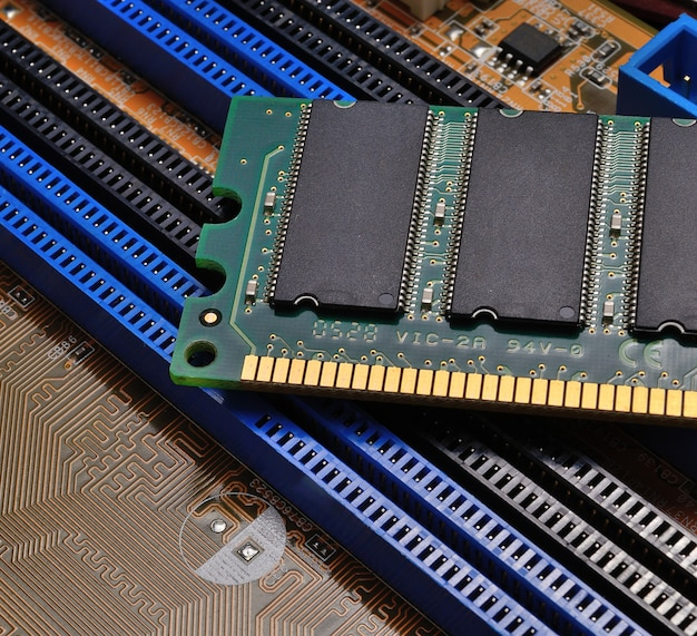 Ram modules on the motherboard