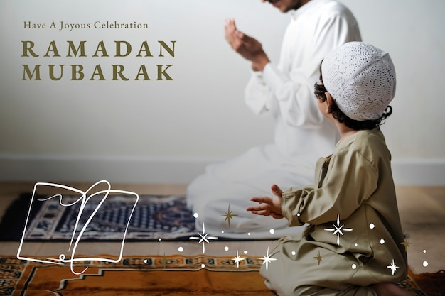 ラマダン聖なる月の挨拶バナー