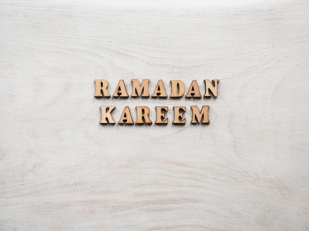 Ramadan kareem. beautiful card. isolated background, closeup