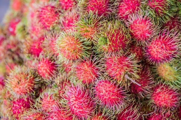 ランブータン、ネグリト、セマン、甘いタイの果物