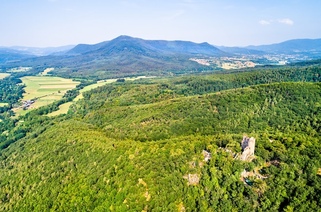 Ramstein castle in the vosges mountains, the bas-rhin department of france