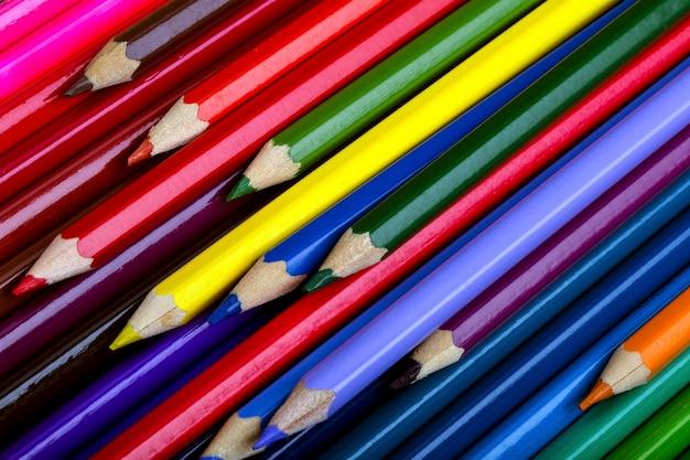 ランダムな色鉛筆パイルテクスチャ