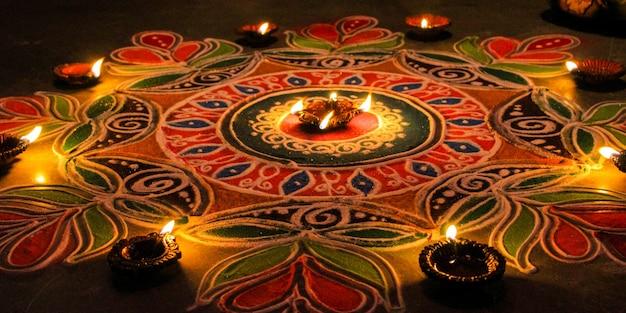 Rangoli - traditional indian pattern art
