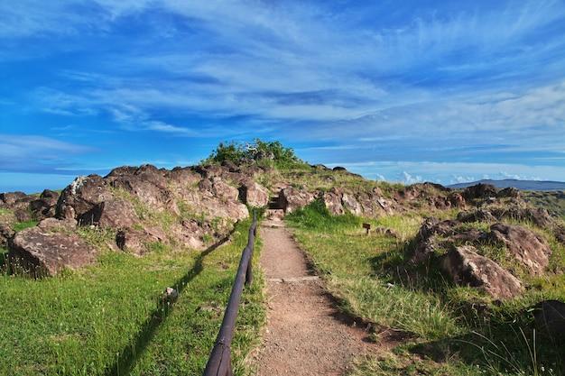 ラノカウ火山、イースター島、チリ