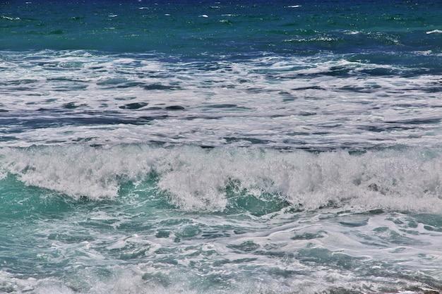 Rapa nui. вид на тихий океан на острове пасхи, чили