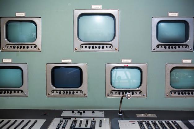 Rare communication panel at the museum of radio electronics