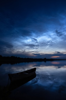 희귀 기상 현상 - 밝은 야광운(밤에 빛나는 구름)
