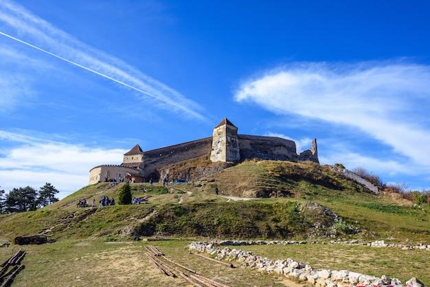 Rasnov fortress at daylight