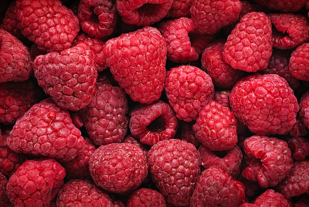 Raspberries horizontal background