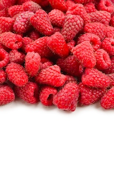 Raspberry as a background, top view.