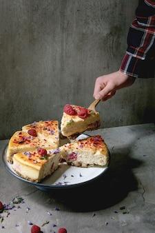 ラズベリー焼きチーズケーキ