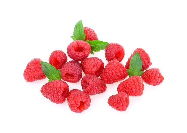 Raspberry isolated on white background