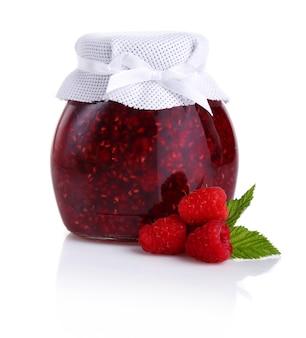Raspberry jam isolated