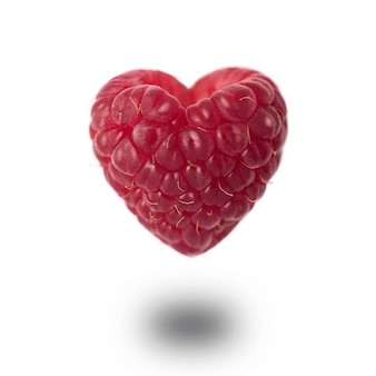 Raspberry in the shape of a heart