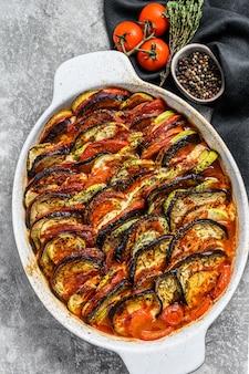 Ratatouille, homemade vegetable dish