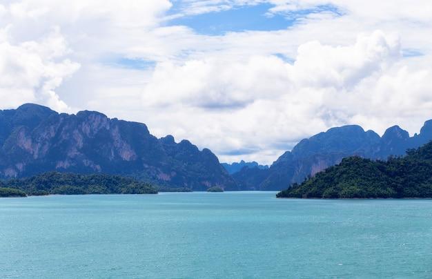 Ratchaprapha dam or cheow lan dam,thailand