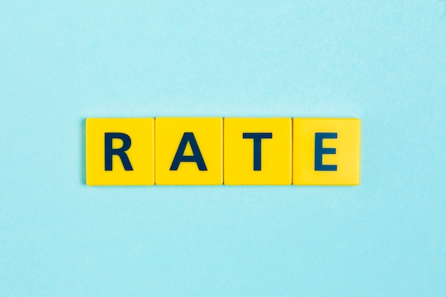 Rate word on scrabble tiles