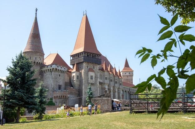 The raven castle in romania.