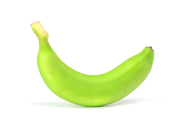 Raw banana isolate on white background