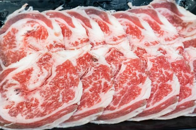 그릴용 생 쇠고기 슬라이스