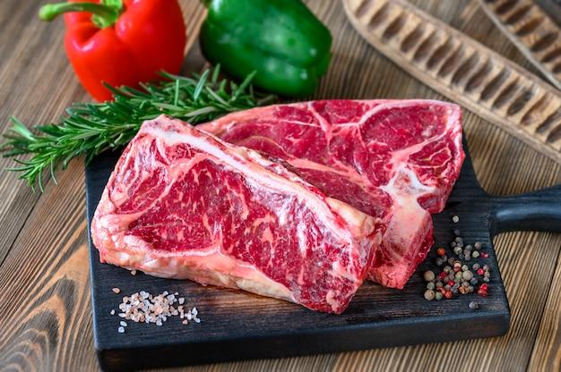 調味料入り生牛ステーキ