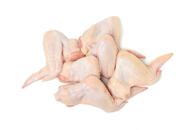 Raw chicken meat isolated on white space