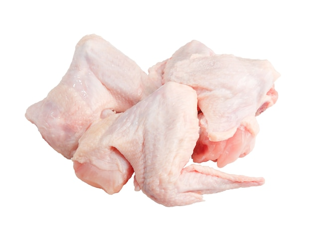 Raw chicken wings isolated