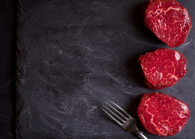 Raw filet mignon steaks