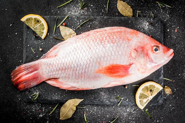 Raw fish red tilapia