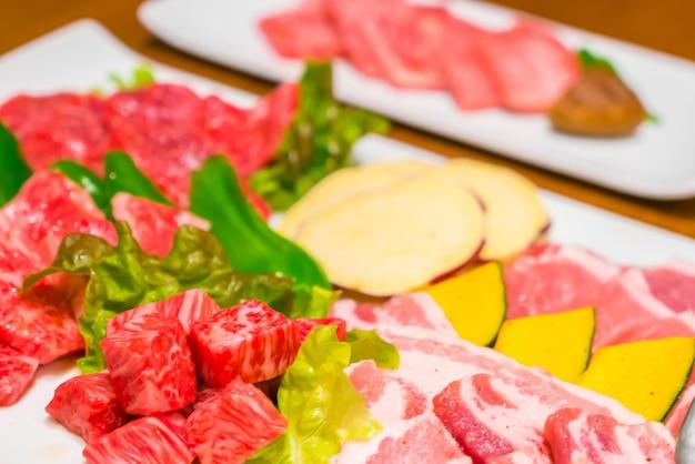 Сырье свежей говядины