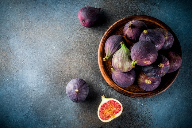 Raw fresh fig fruits