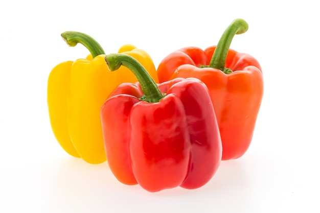 Raw group peppers vegetable bell