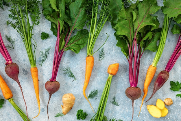Raw ingredients for detox nutrition