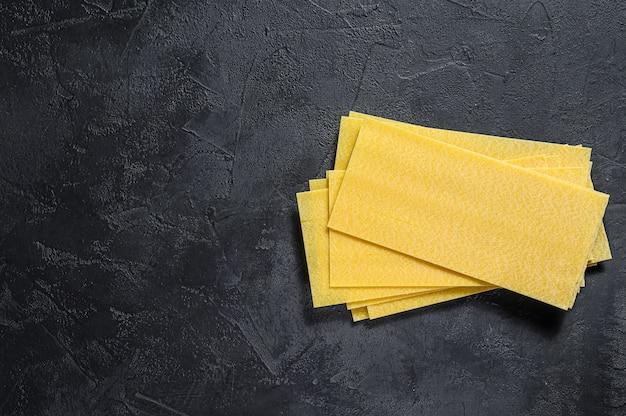 Raw lasagna sheets.
