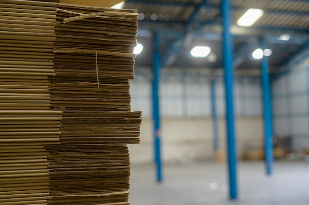 Raw material for medical industrial factory  in warehouse background