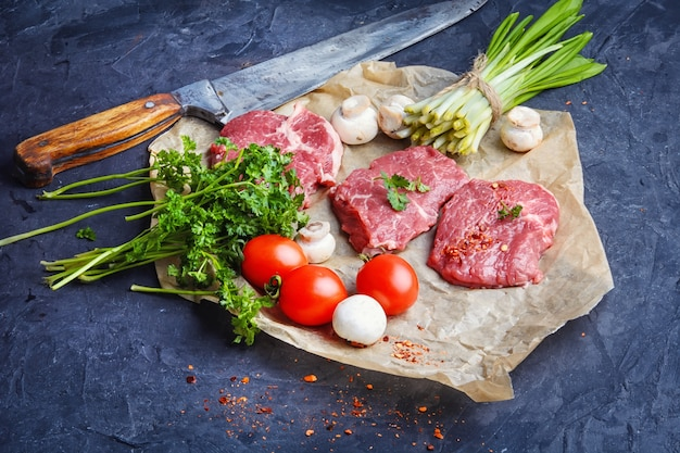 Raw meat home beef