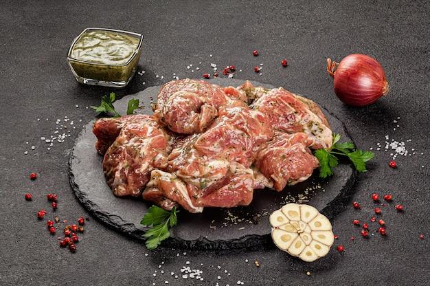 生肉製品、体のさまざまな部分