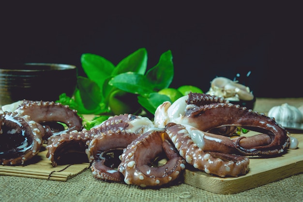 Raw octopus ready for cooking