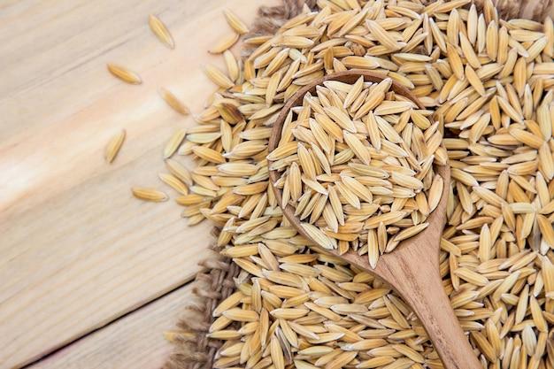 Raw paddy rice