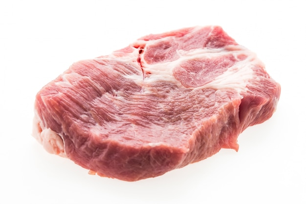 Raw pork meat isolated
