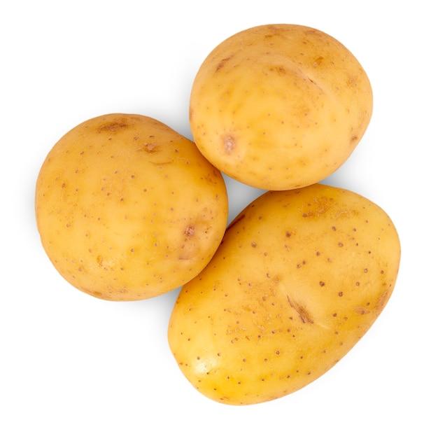 Сырой картофель, изолированные на белом фоне