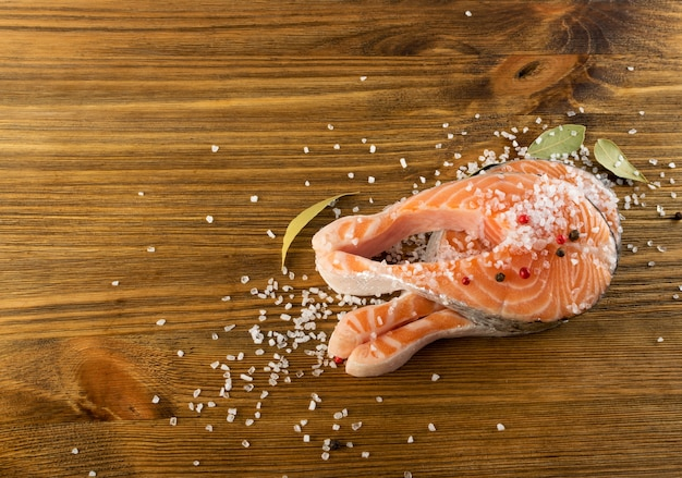 生鮭ステーキ上面図