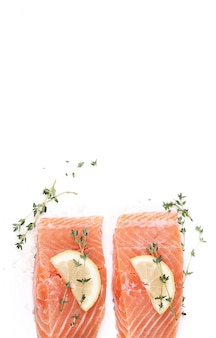 Raw salmon with spices