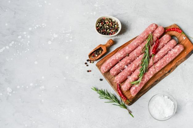 Raw sausages italian