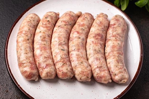 生ソーセージ肉なし大豆小麦野菜スナックプロテインセイタンベジタリアンまたはビーガンスナック