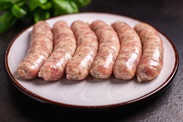 生ソーセージ野菜スナックプロテインセイタンミートレス大豆小麦ベジタリアンまたはビーガンスナック