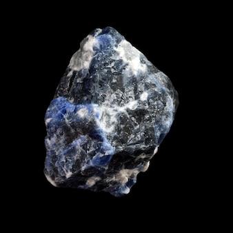 Raw sodalite stone