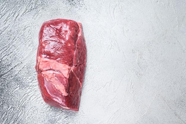 Raw veal meat steak fillet