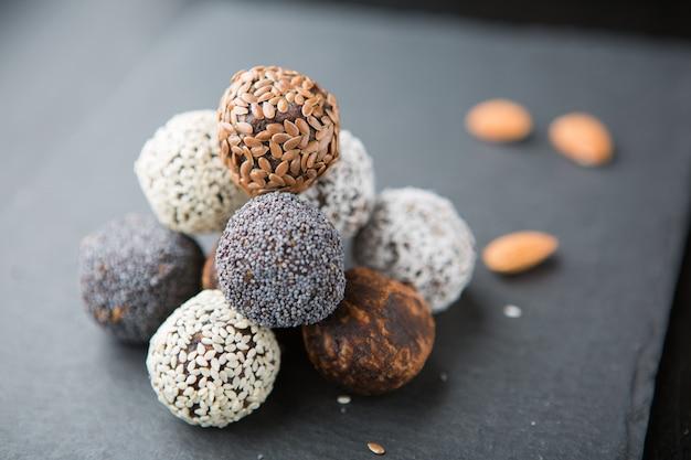 Raw vegan sweet candy balls