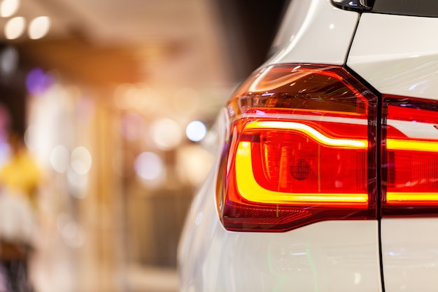 Rayong,thailand - september 11, 2018: rear light of bmw ,showed